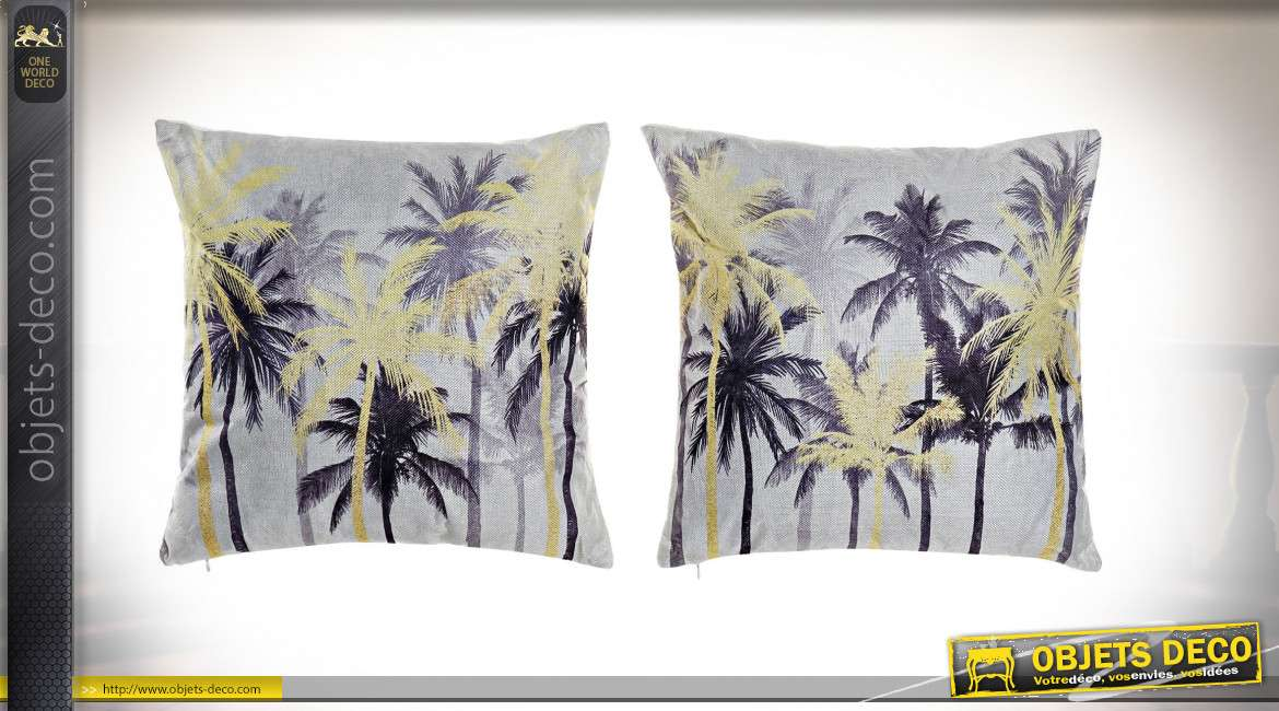 COUSSIN POLYESTER 45X10X45 466 GR. PALMIERS 2 MOD.