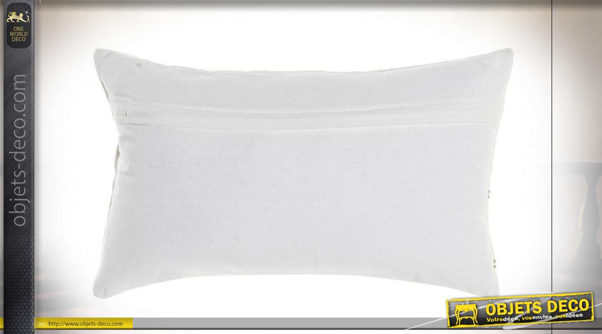 COUSSIN POLYESTER COTON 50X30 574GR VELOURS JAUNE