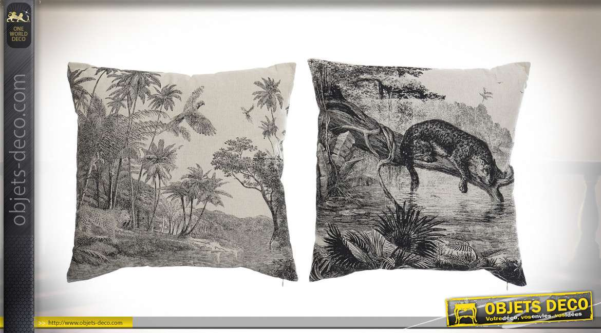 COUSSIN POLYESTER 45X45 350 GR. JUNGLE 2 MOD.