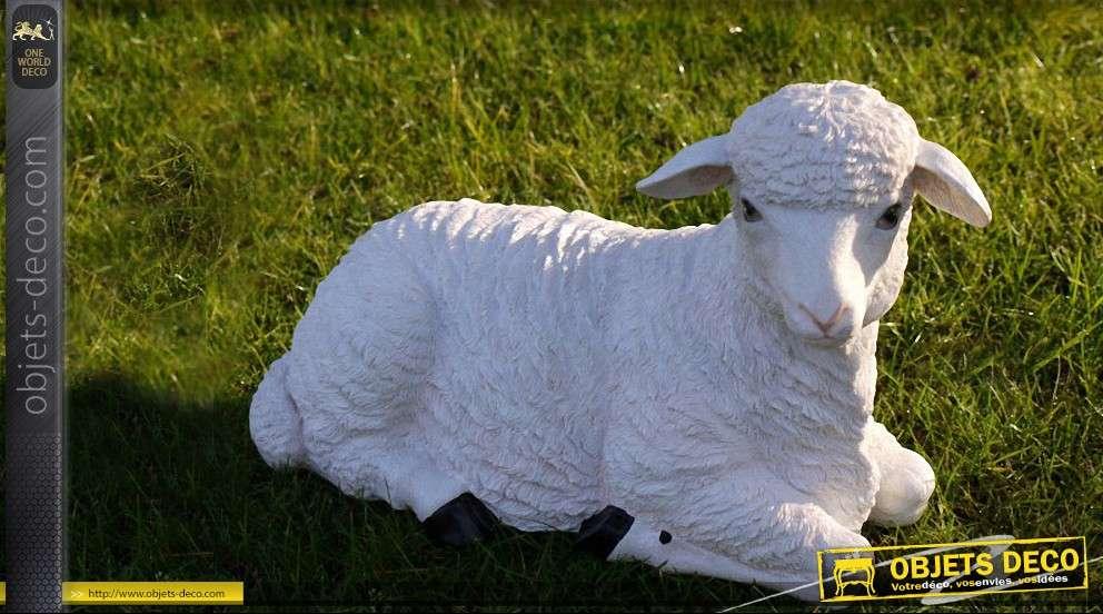Statuette animalière agneau