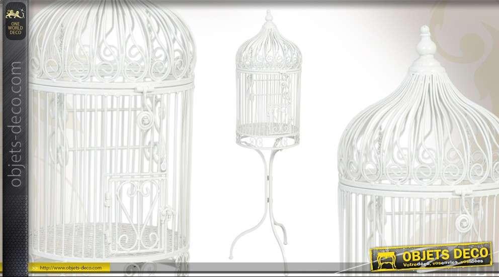 cage oiseaux sur pied style r tro coloris turquoise 91 cm. Black Bedroom Furniture Sets. Home Design Ideas