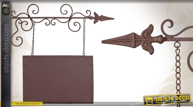 enseigne en fer forg rectangulaire avec sa potence. Black Bedroom Furniture Sets. Home Design Ideas