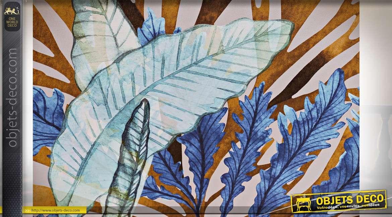 Série de deux tableaux représentant des algues marines, ambiance bord de mer chic, 50cm