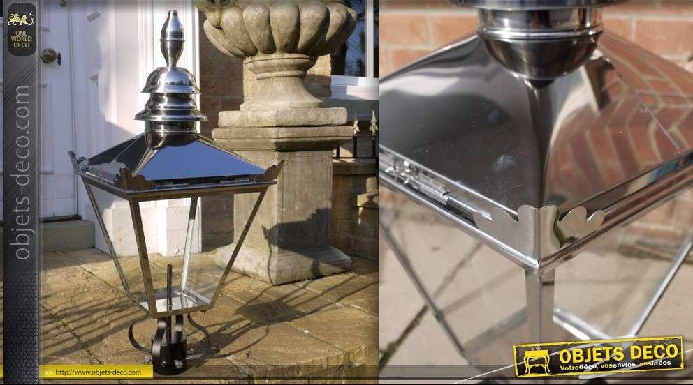 Grande lanterne en acier inoxydable (88 cm)