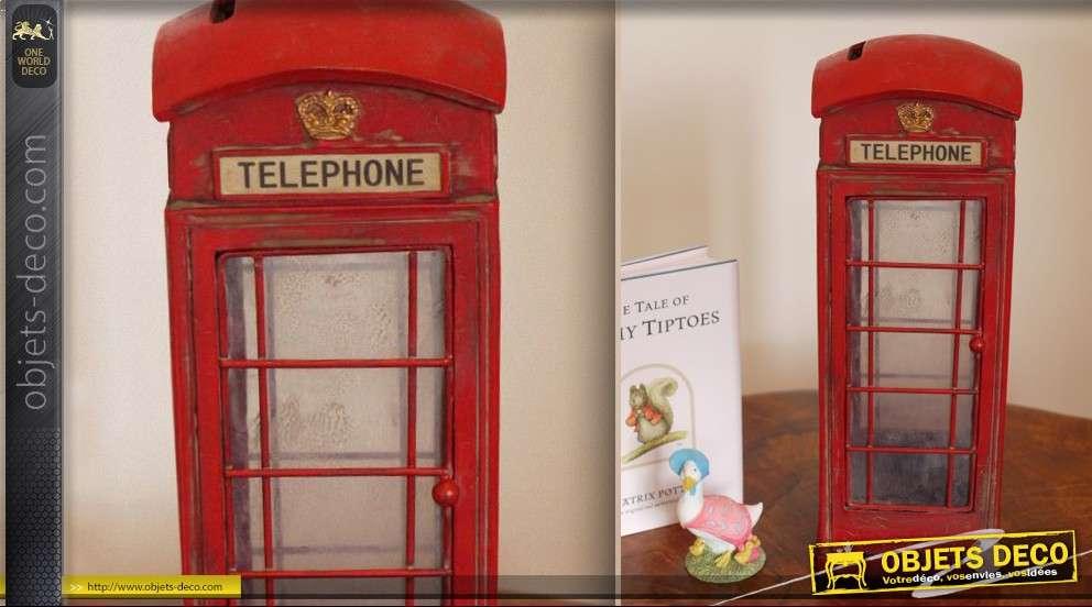Objet d co miniature d 39 une cabine de t l phone anglais - Meuble cabine telephonique anglaise ...