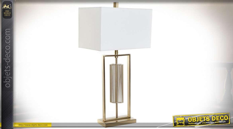 LAMPE DE TABLE MÉTAL 41X25X79 DORÉ