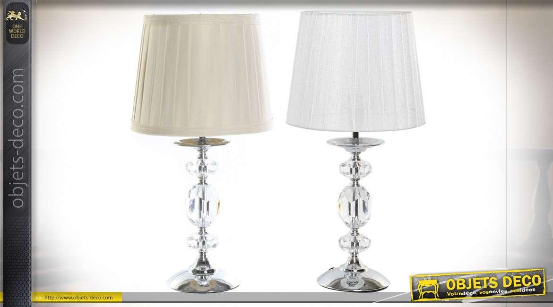 LAMPE DE TABLE MÉTAL ACRYLIQUE 22X22X43 2 MOD.
