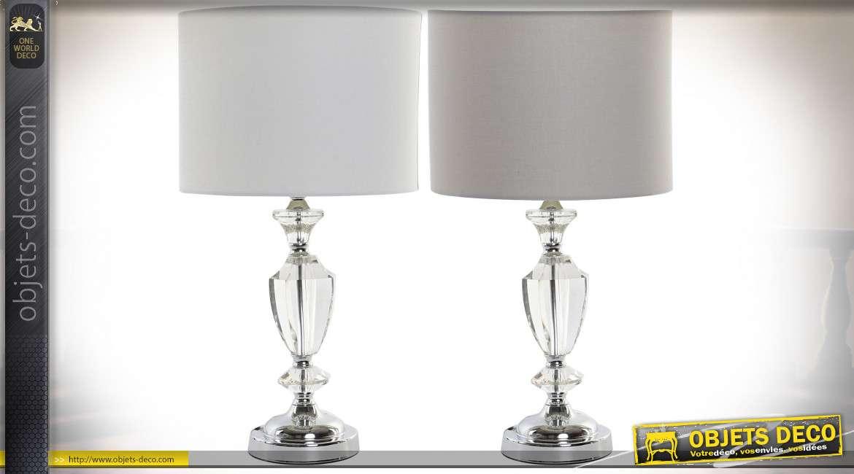LAMPE DE TABLE MÉTAL ACRYLIQUE 28X28X51 2 MOD.