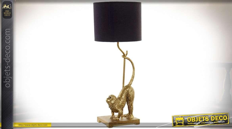 LAMPE DE TABLE RÉSINE POLYESTER 23X23X60 SINGE