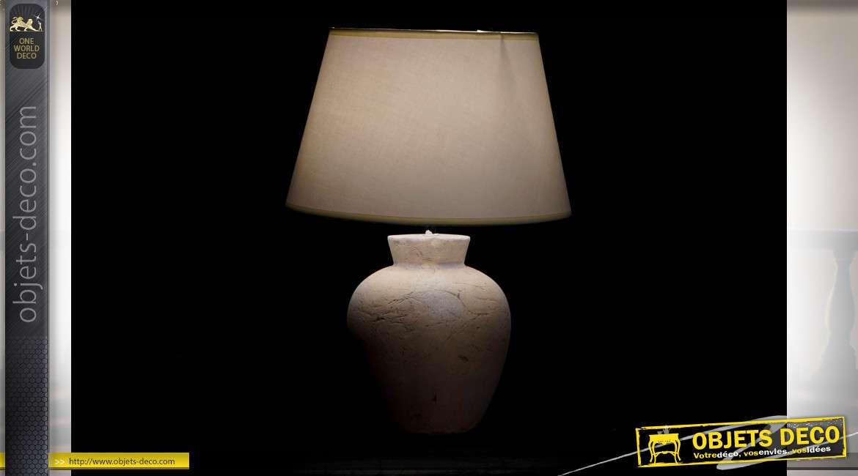 LAMPE DE TABLE GRÈS LIN 35X35X50 2 MOD.