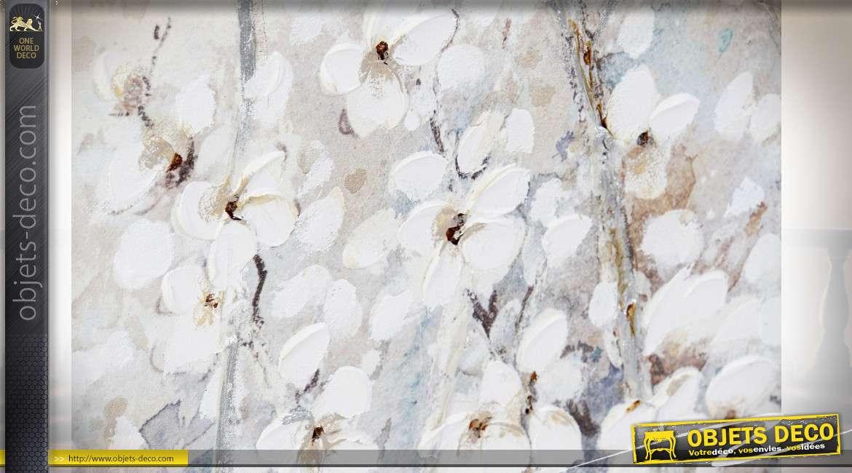 TABLEAU TOILE ACRYLIQUE 120X3,8X90 AMANDIER