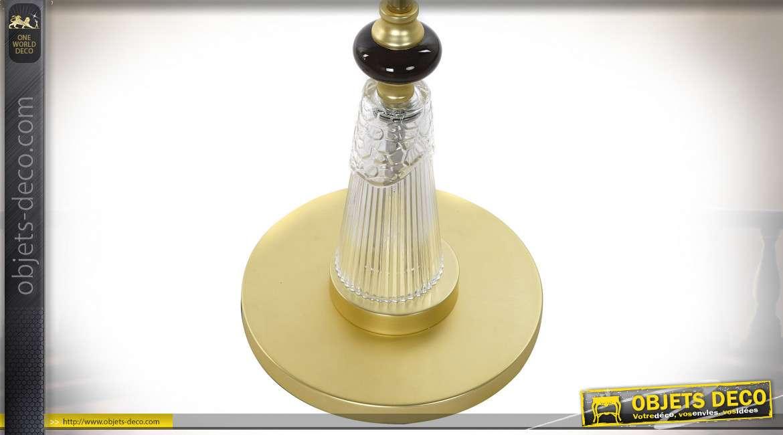 LAMPADAIRE MÉTAL PORCELAINE 28X28X160 DORÉ