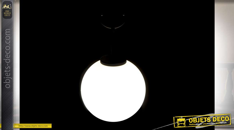 LAMPE APPLIQUE MÉTAL VERRE 20X25X35 20 BALLE NOIR