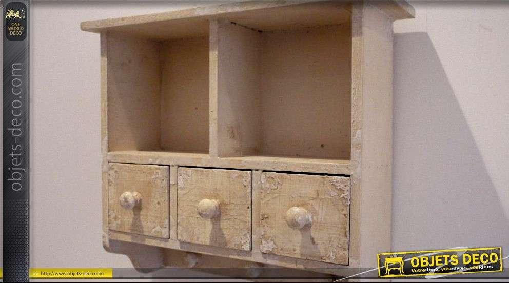 meuble de rangement mural avec porte serviettes. Black Bedroom Furniture Sets. Home Design Ideas