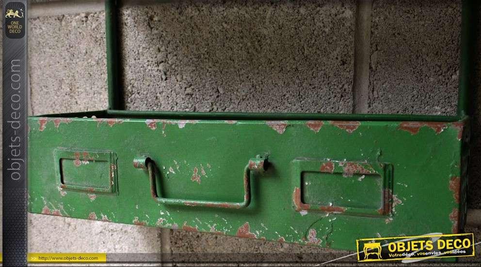 Double étagère d'atelier en métal style indus et rétro