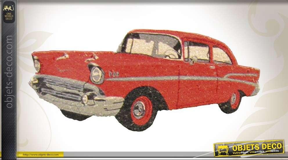 Paillasson décoratif en forme de voiture américaine rouge
