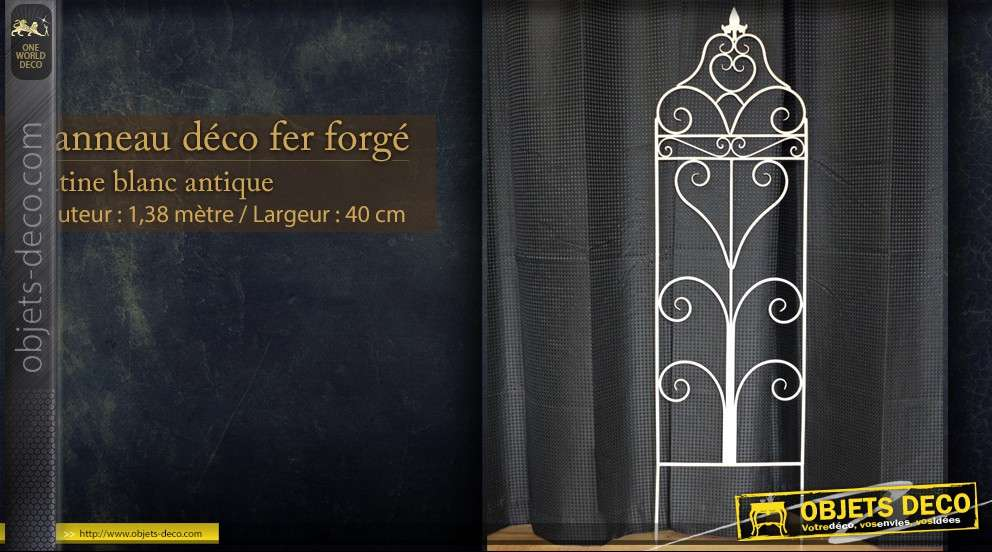panneau d coratif mural en fer forg. Black Bedroom Furniture Sets. Home Design Ideas