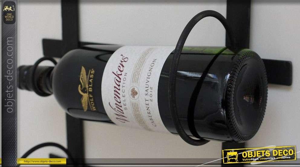 Support mural en métal pour bouteilles de vin