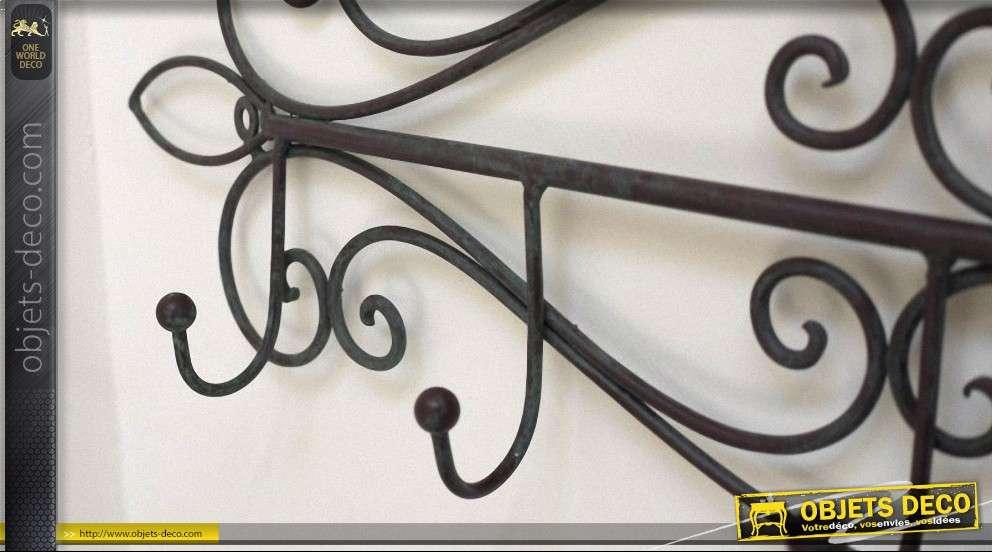 grand porte manteaux en fer forg 6 pat res. Black Bedroom Furniture Sets. Home Design Ideas