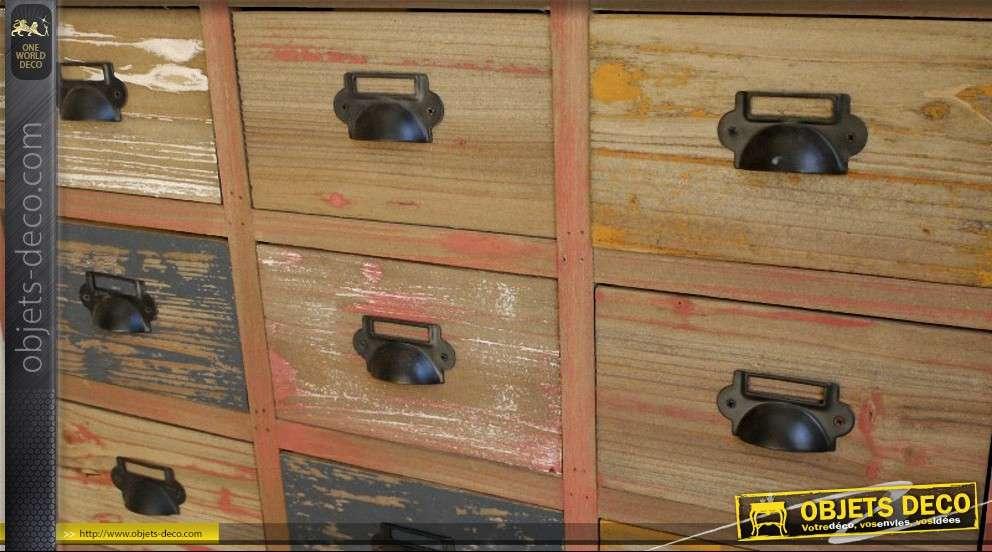 Meuble de m tier style brocante 18 tiroirs for Meuble de metier a tiroir
