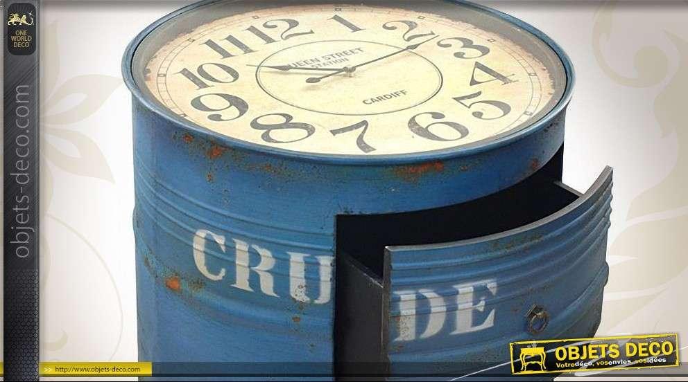 En Industriel Style Forme Bidon Horloge De Table On0mwvN8