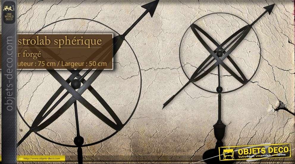 astrolabe sph rique en fer forg sph re armillaire. Black Bedroom Furniture Sets. Home Design Ideas