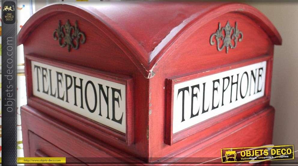 Meuble cabine t l phonique anglaise - Meuble cabine telephonique anglaise ...