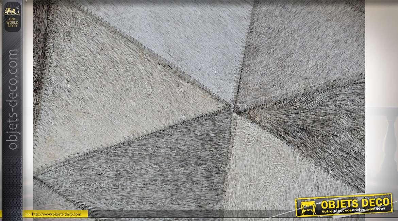 TAPIS CUIR POLYESTER 120X180X1 GRIS CLAIR