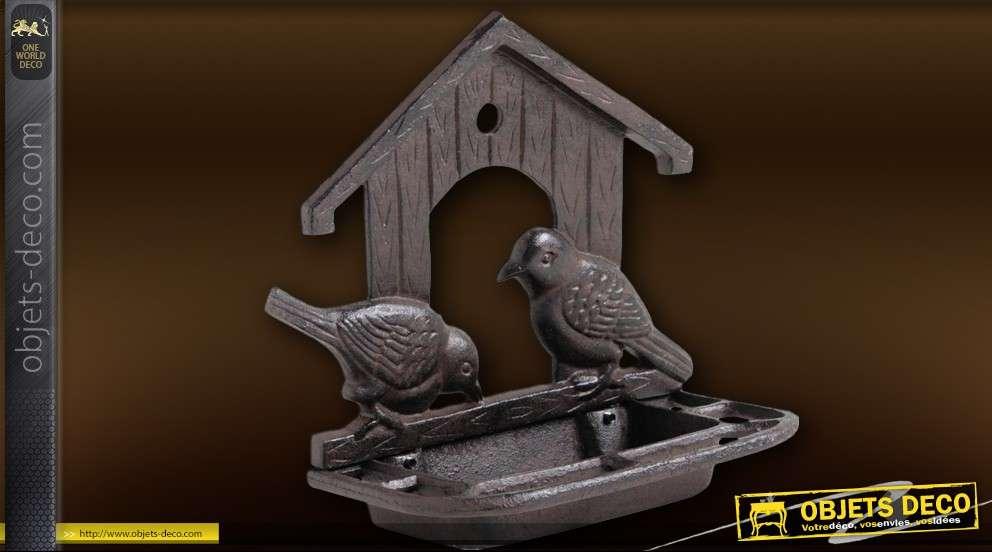 Mangeoire murrale en fonte pour oiseaux