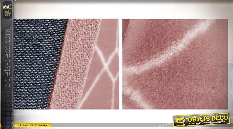 Grand tapis rose au formes géométriques esprit Boho, 230cm