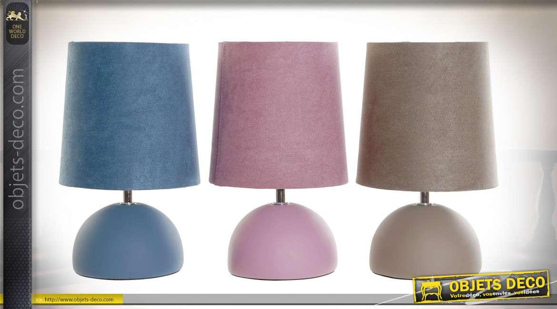 LAMPE DE TABLE GRÈS COTON 16X16X27 3 MOD.