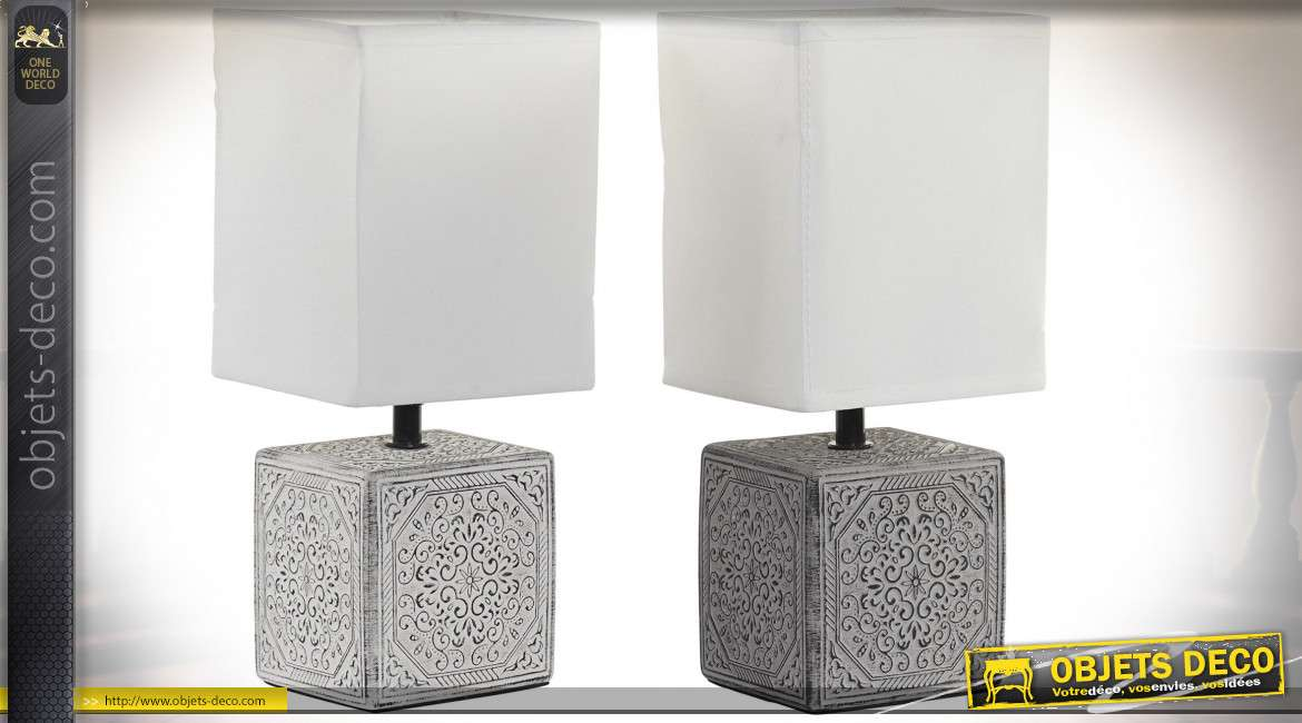 LAMPE DE TABLE ARGILE 13X11X29,5 2 MOD.