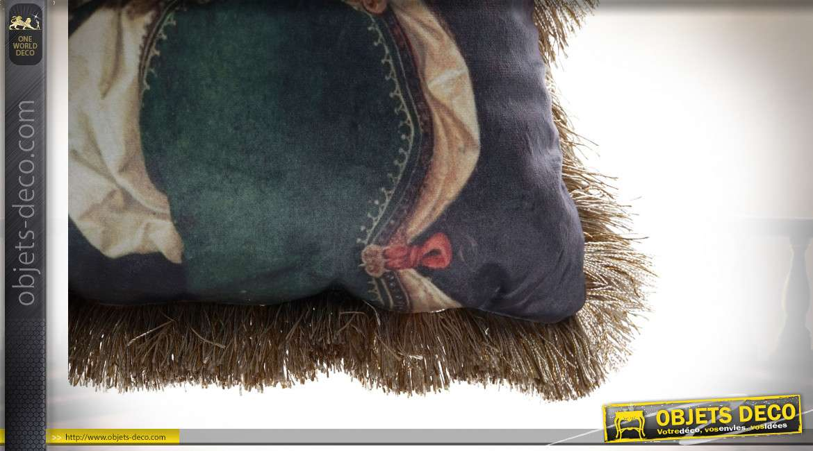 COUSSIN POLYESTER 50X10X50 FRANGE 2 MOD.