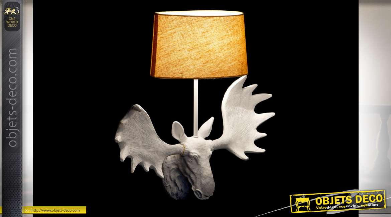 LAMPE APPLIQUE RÉSINE 42X15X44 CERF 2 MOD.