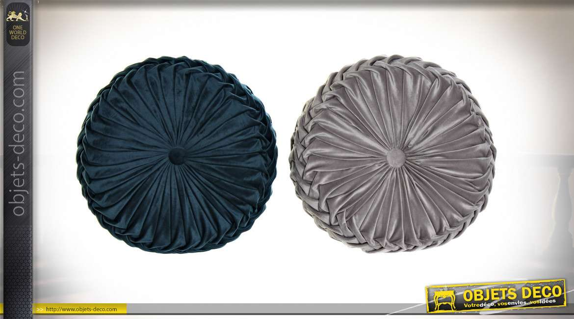 COUSSIN POLYESTER 42X42X13 600 gr. VELOURS 2 MOD.