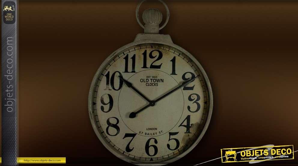 Tr s grande horloge en forme de montre gousset - Tres grande horloge murale ...