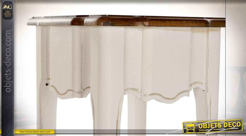 TABLE AUXILIAIRE SET 2 PAULOWNIA 35X35X80 BLANC
