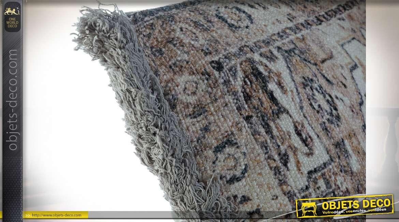 COUSSIN COTON 60X10X60 850 GR. FRANGE MULTICOLORE