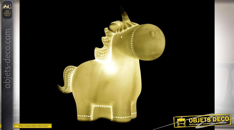 LAMPE DE TABLE PORCELAINE LED 26X14X25,5 LICORNE