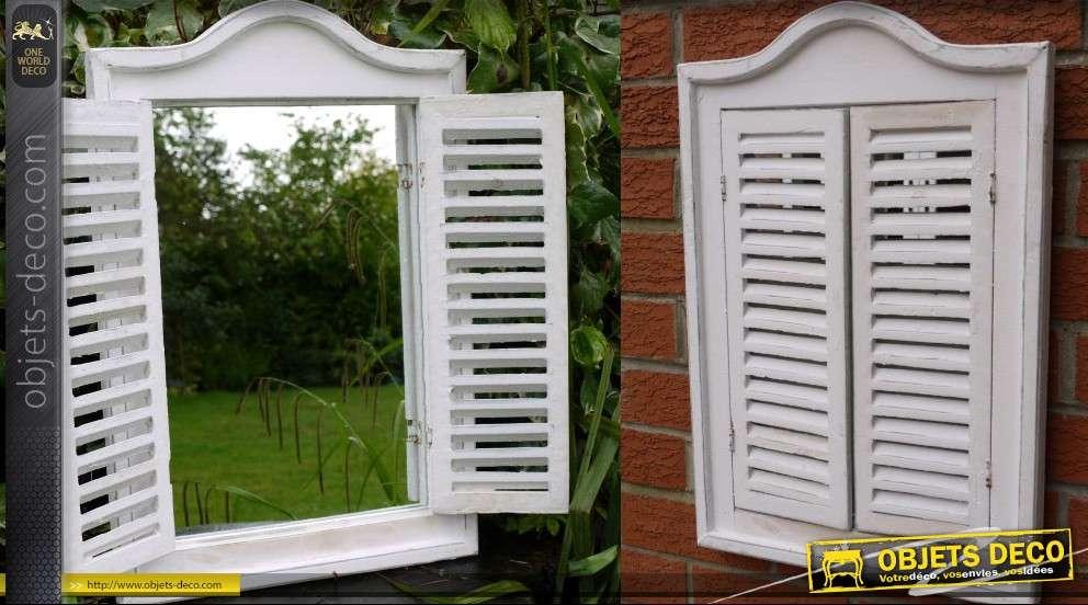 Miroir en fen tre coloris blanc for Miroir en forme de fenetre