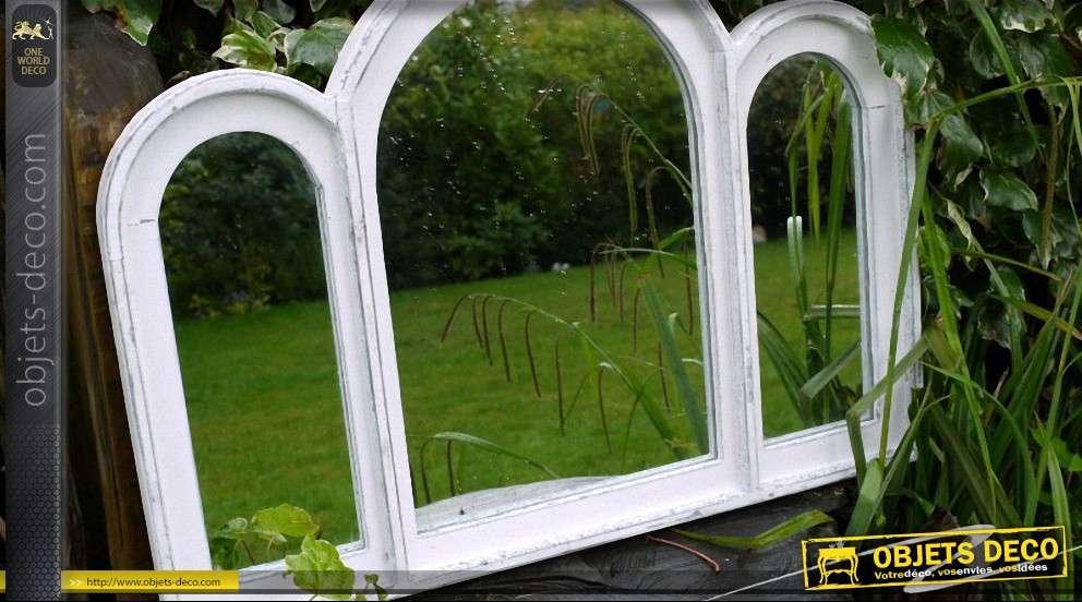 Miroir fen tre triptyque style ancien for Miroir style fenetre