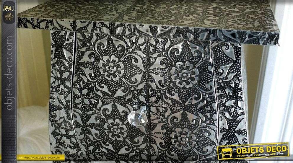 table de chevet sellette style marocain. Black Bedroom Furniture Sets. Home Design Ideas