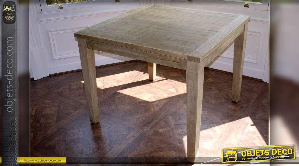 table carr e style rustique en bois massif. Black Bedroom Furniture Sets. Home Design Ideas