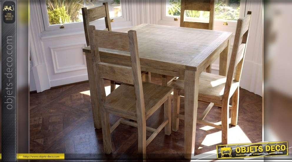 ensemble table et 4 chaises de style rustique. Black Bedroom Furniture Sets. Home Design Ideas