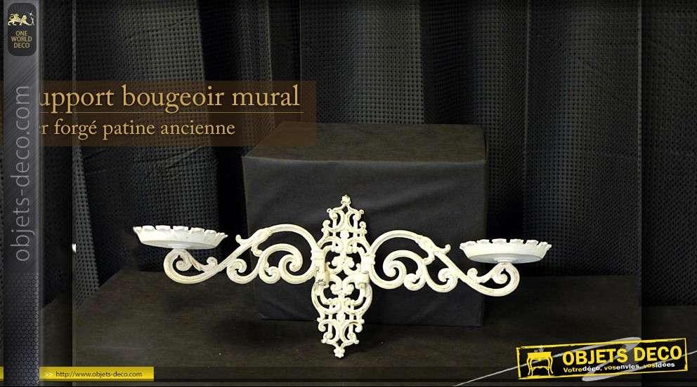 support bougeoir applique murale. Black Bedroom Furniture Sets. Home Design Ideas