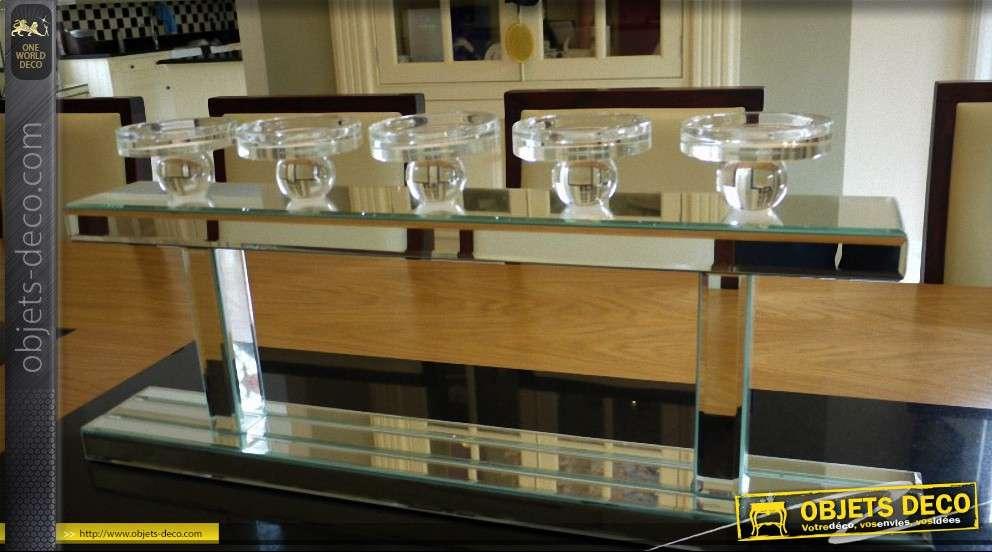 Grand bougeoir luxe et design en verre et miroir for Grand objet deco