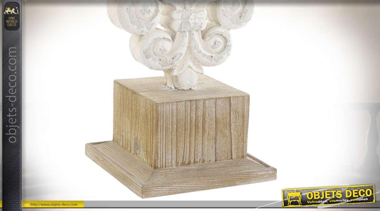 LAMPE DE TABLE SAPIN MÉTAL 36X36X79 BLANC