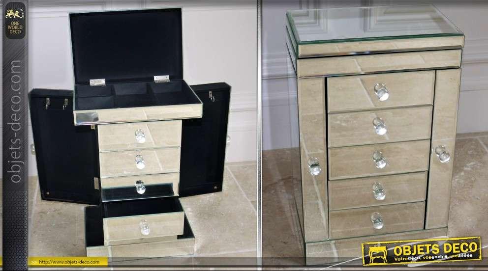 Meuble bijoux de style v nitien en miroirs - Meuble rangement bijoux miroir ...