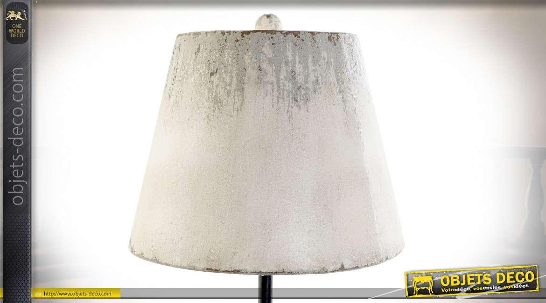 LAMPE DE TABLE SAPIN MÉTAL 31X31X79 VIEILLI MARRON