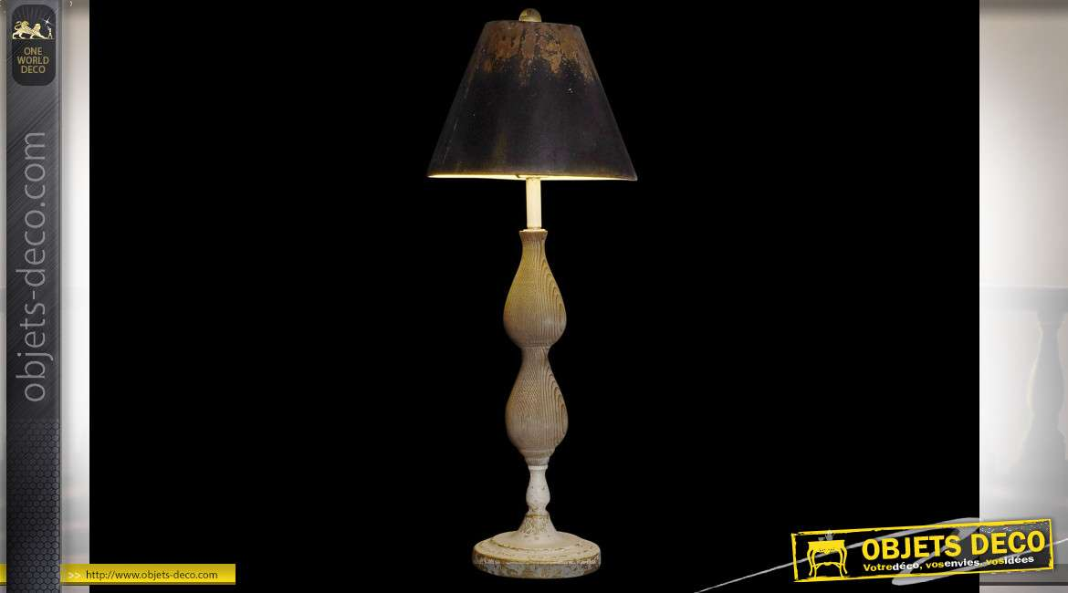 LAMPE DE TABLE SAPIN MÉTAL 29,5X29,5X78,5 29,5